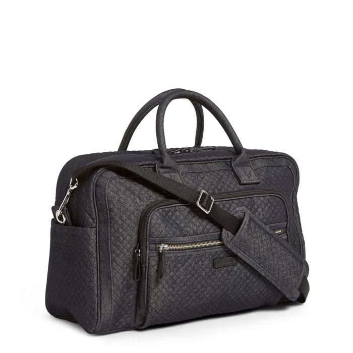Image Of Iconic Compact Weekender Travel Bag In Denim Navy