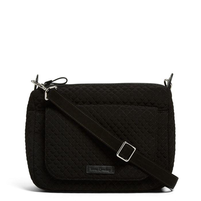 Image Of Carson Mini Shoulder Bag In Microfiber Classic Black