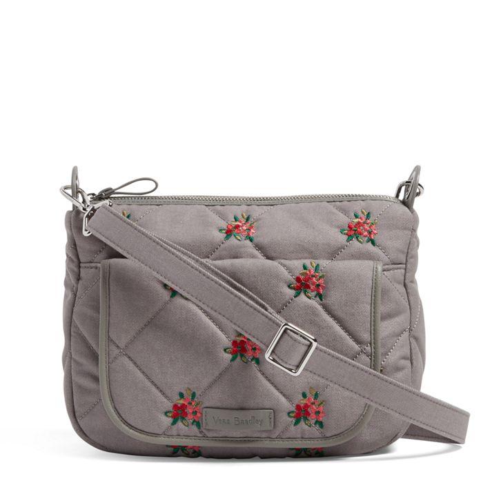 Image Of Carson Mini Shoulder Bag In Denim Gray