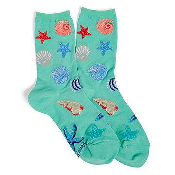 Sea Patterned Crew Socks