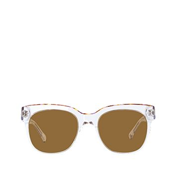 Val Polarized Clear Frame Sunglasses