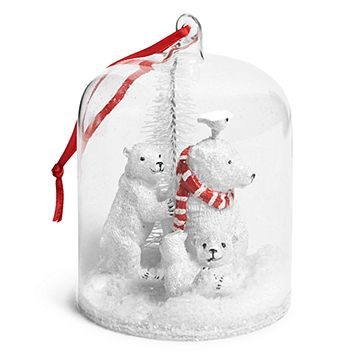Polar Bear Globe Ornament