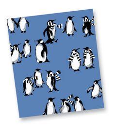 Playful Penguins Blue