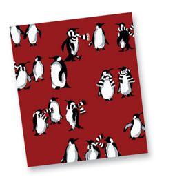 Playful Penguins Red